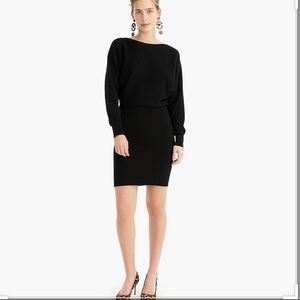 J. Crew Black Dolman Sleeve Sweater Dress
